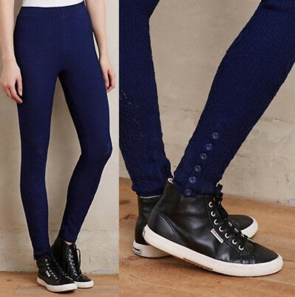 Anthropologie Pants - Sleeping on Snow- Sweater Leggings Navy Blue-xs